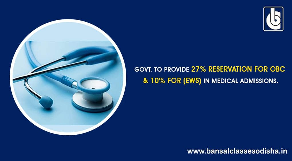 Government Announces 27% Reservations For OBC's & 10% For EWS In All India Medical Admission